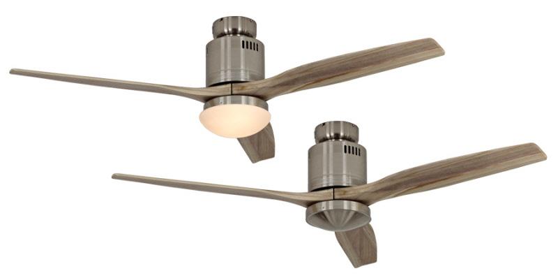 uitvoering chroom geborsteld met naturel houten vleugels
